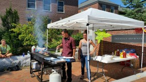 NSA barbeque  on the MLK plaza Fall 2015