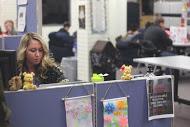 Commuter Assistant staffing front desk of Commuter Lounge