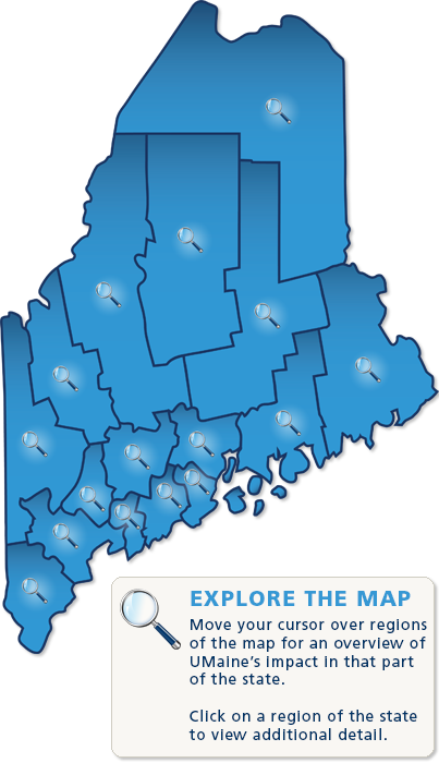 map of Maine with county lines