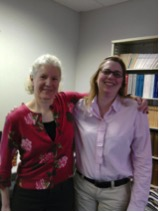 Stacy and her advisor, Dr. Kate Beard of SCIS