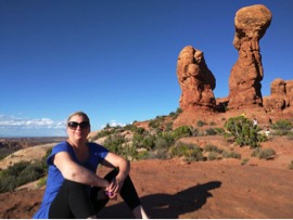 Stacy Doore during summer 2016 family foad trip to Arches National Park