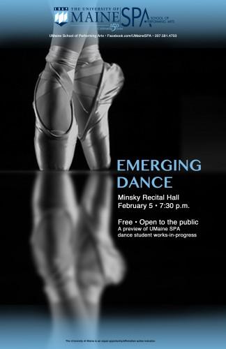 Emerging Dance Poster