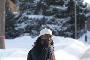 University of Maine Winter Scene