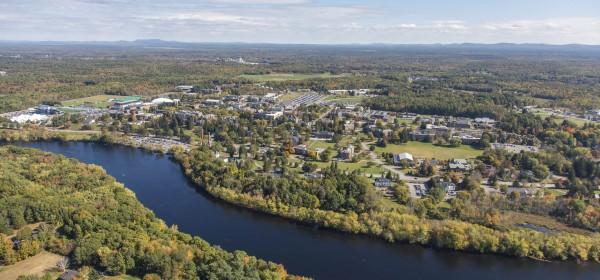 University of Maine campus aerial photo, taken in October 2014