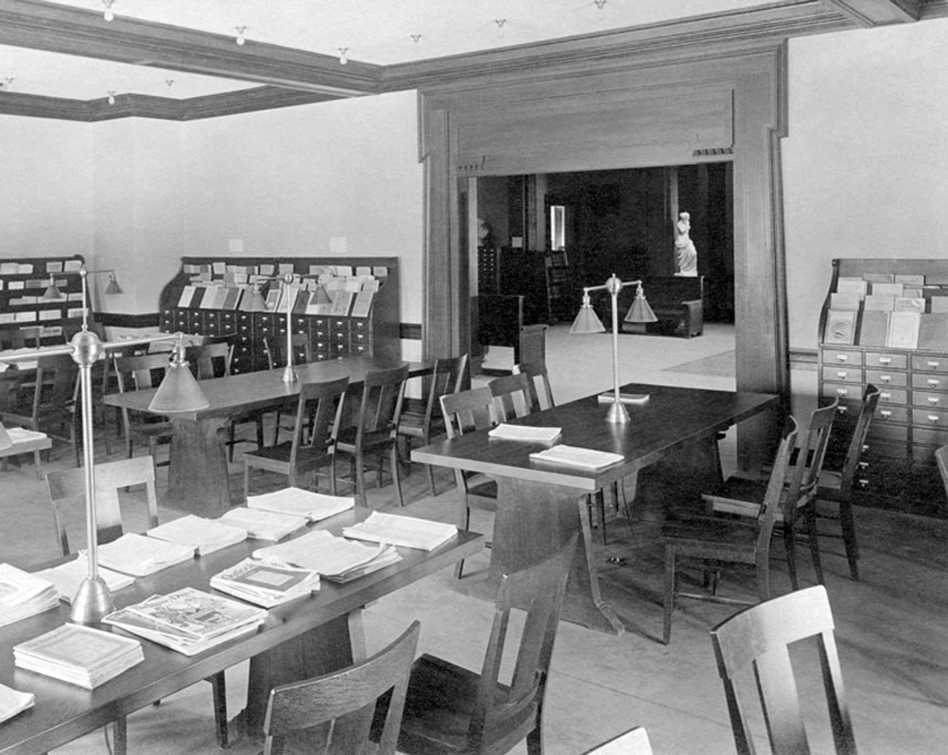 Periodicals in Carnegie Library, circa 1910