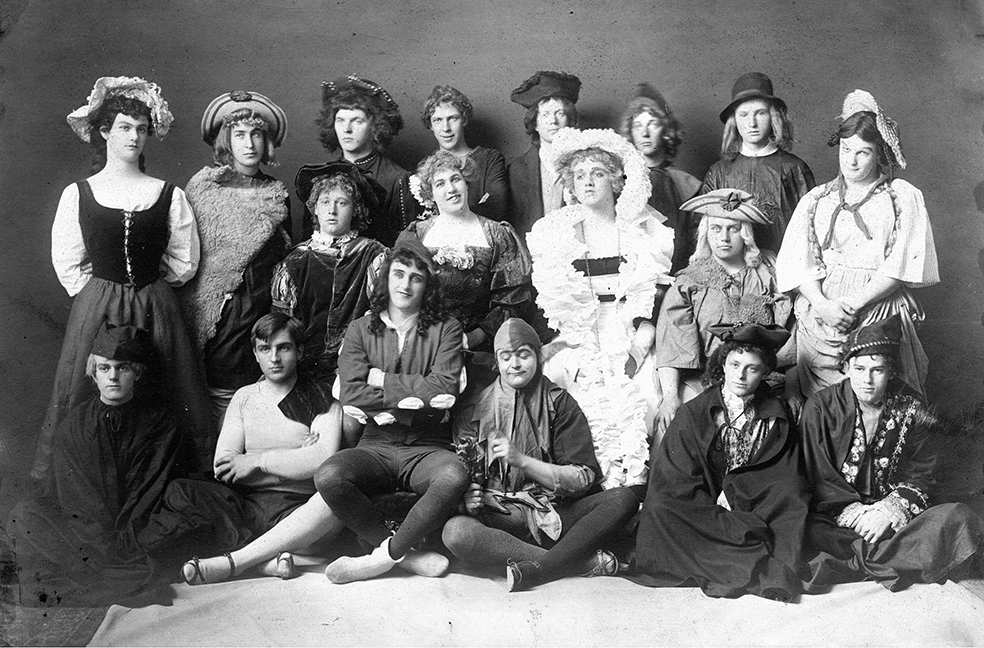 "The cast of  ""As You Like It,"" circa 1907"