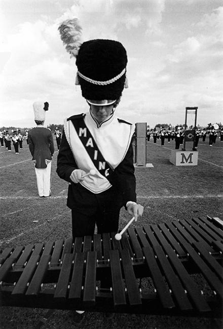 Xylophone player, circa 1978