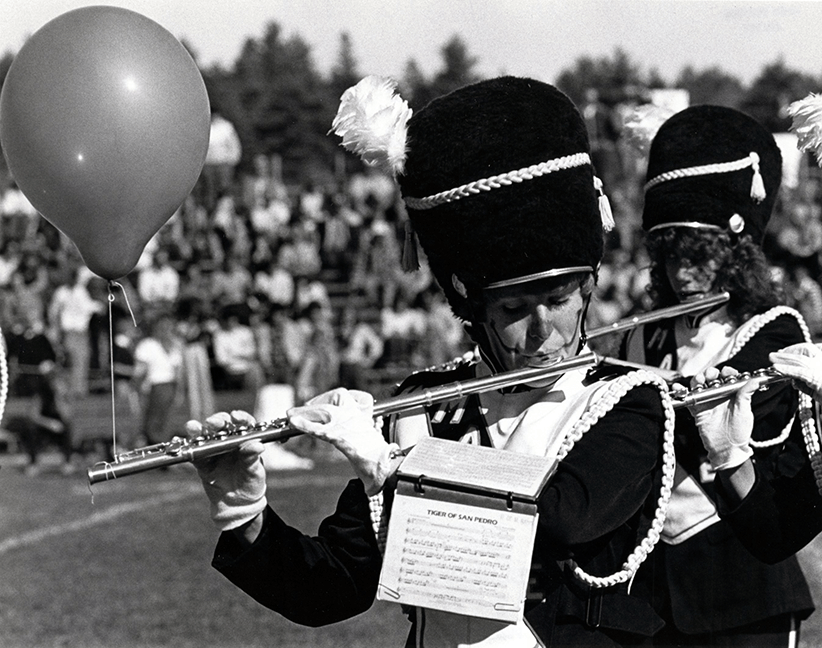 Flute player, circa 1981