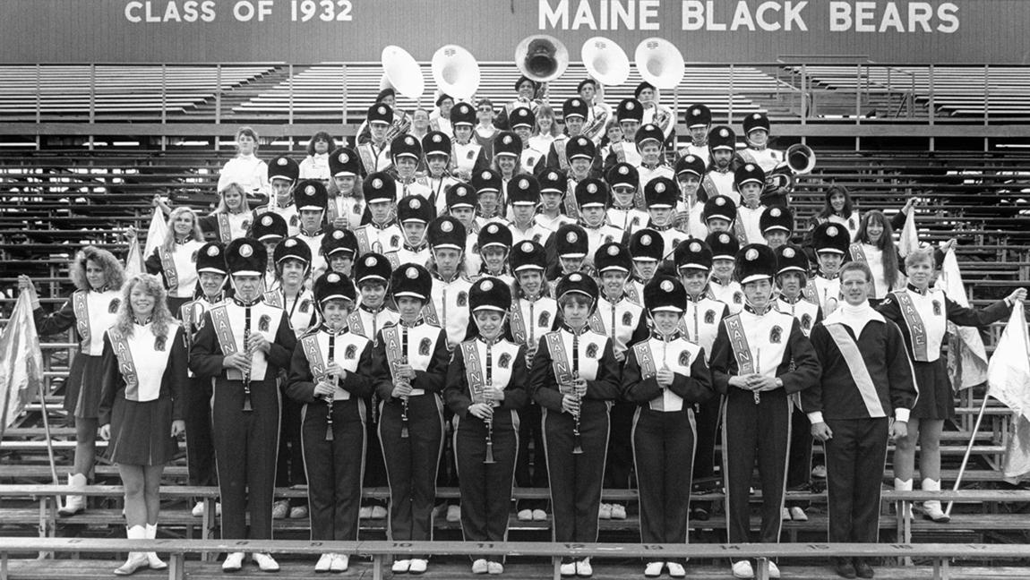 University of Maine band, circa 1990