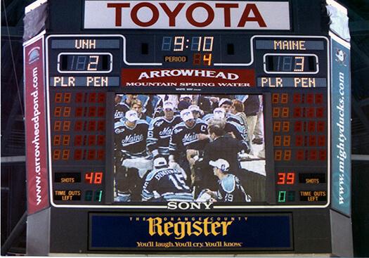 1999 men's ice hockey championship scoreboard