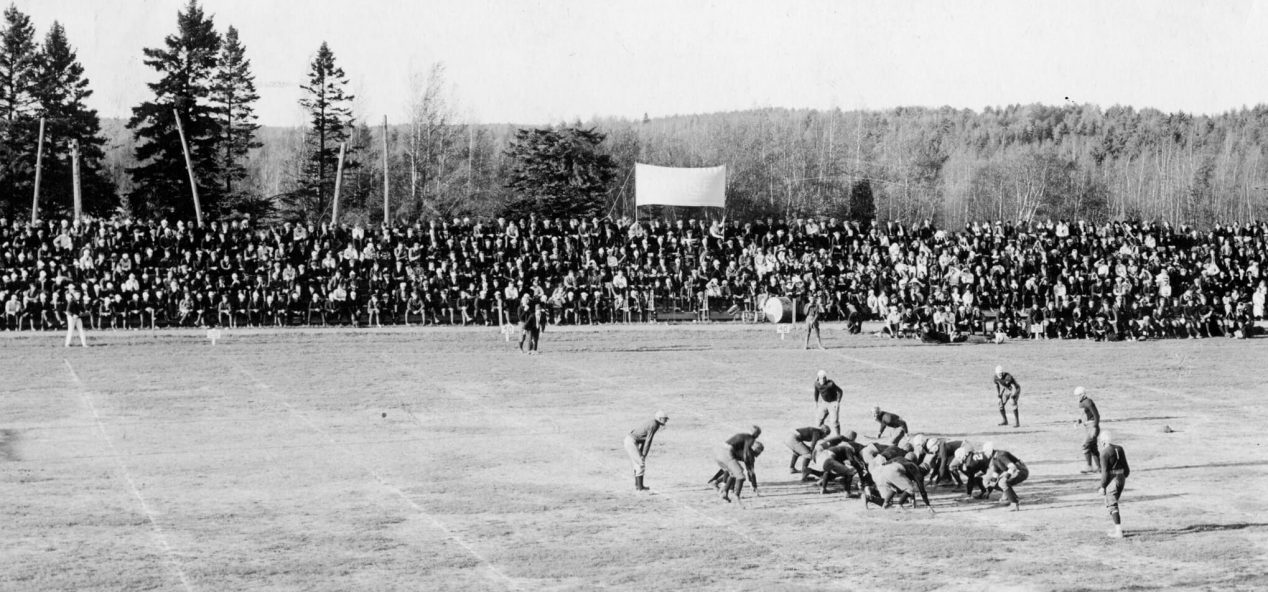 Archival photo of UMaine football