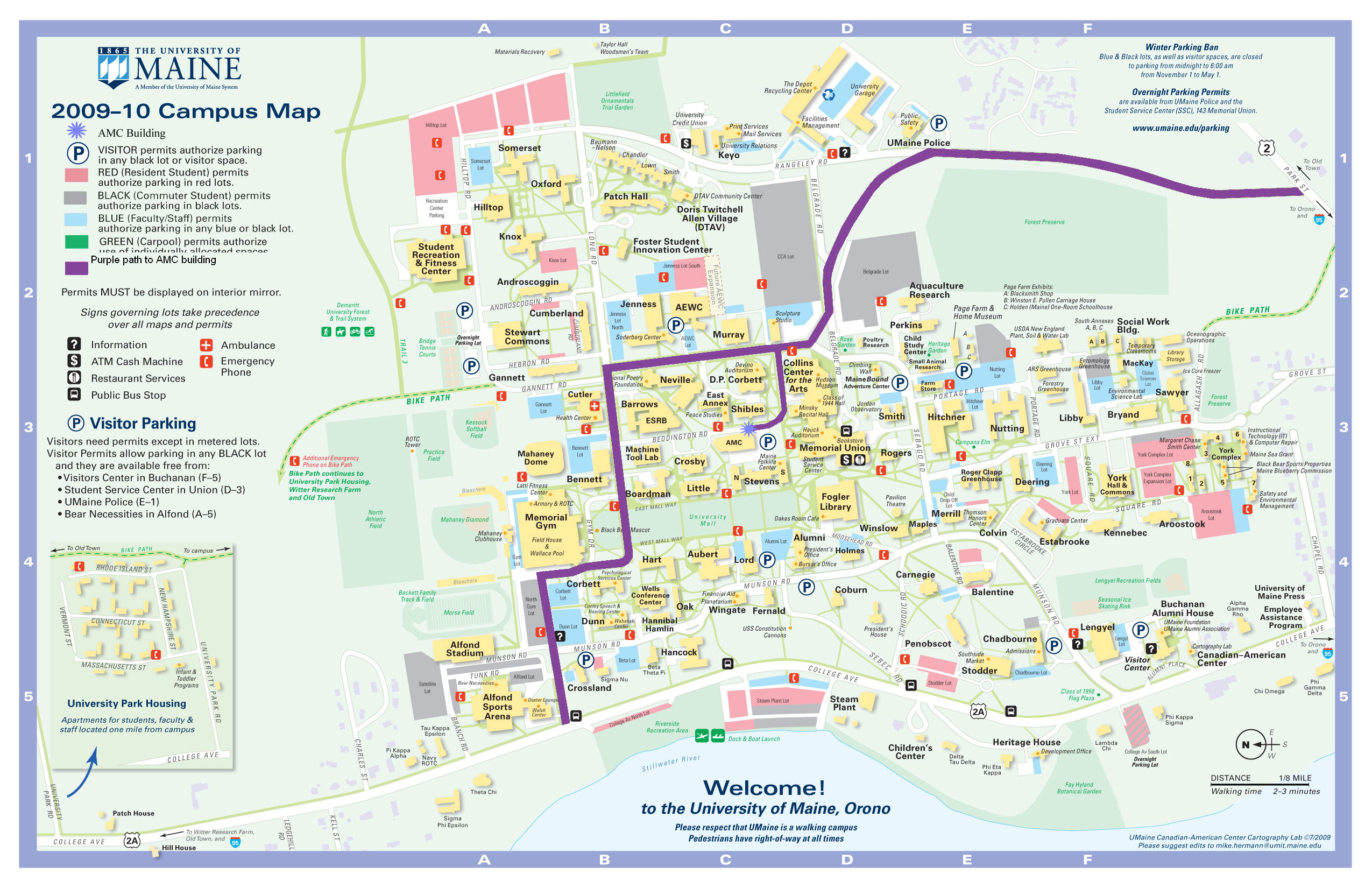 Umaine Campus Map   CYNDIIMENNA