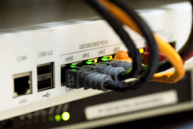 image of computer ethernet plugs