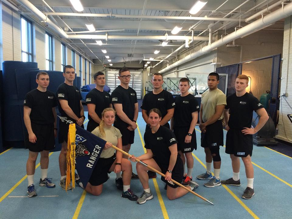 The Ranger Challenge team poses for a picture after completing the Brigade Fitness Challenge.