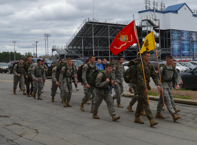Cadets completing the marathon ruck