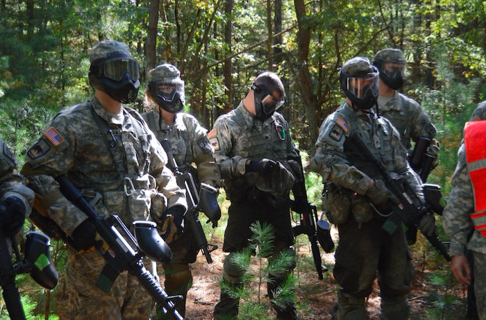 Paintball during Ranger Challenge Competition