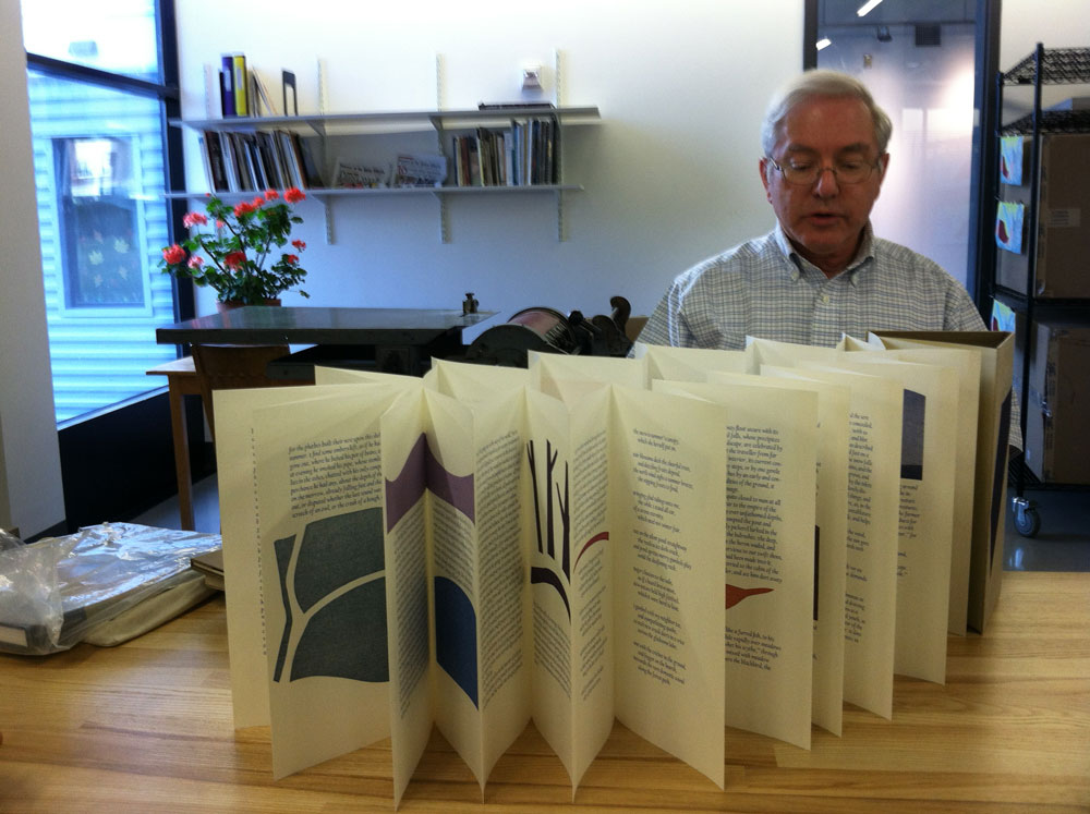 Michael Alpert with Accordion Book
