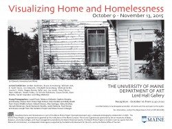 Visualzing Home and Homelessness Announcement