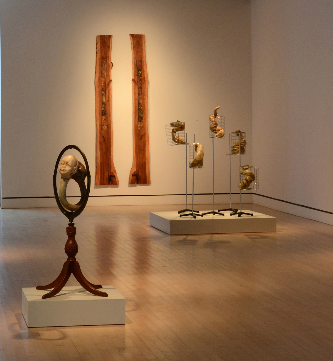 Work in Lord Hall Gallery, University of Maine, Exhibition