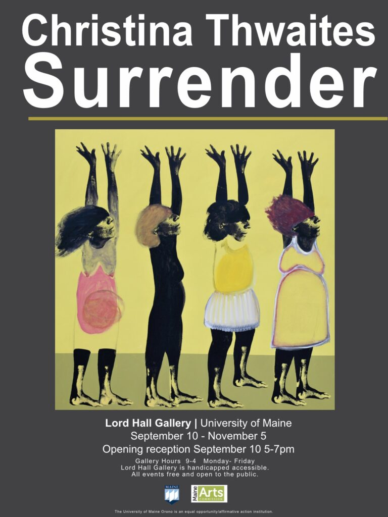 Christina Thwaites, image Surrender for current exhibition Sept 7- Nov 2