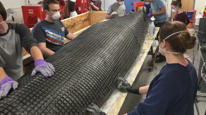 Concrete canoe creation