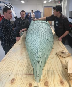 canoe coming along