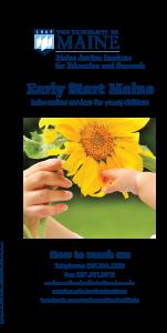 Maine Early Start Brochure