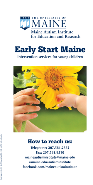 Maine Early Start Brochure