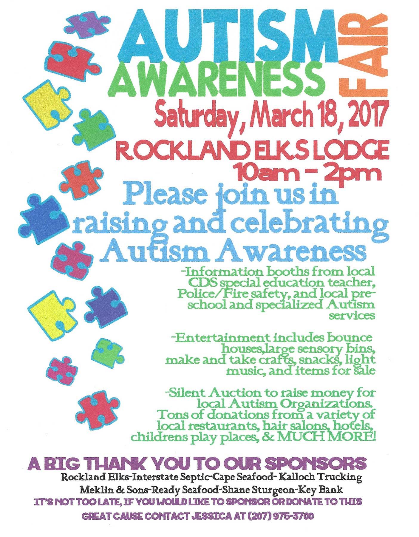 Autism Awareness Fair - Maine Autism Institute for ...
