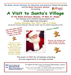 Info flyer for Dec 3 2017 MFP event at MDM