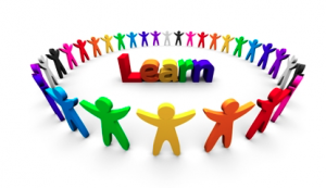 """Colorful circle around the word """"Learn"""""""