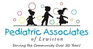 Logo for Pediatric Associates of Lewiston: children playing