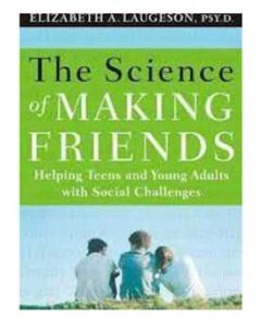 Book cover: The Science of Making Friends. Photo of Three teens sitting in the grass