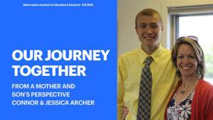 Our Journey Together with photo of young man and his mother