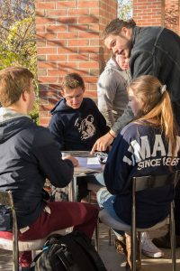 Auxiliary services, students on UMaine campus