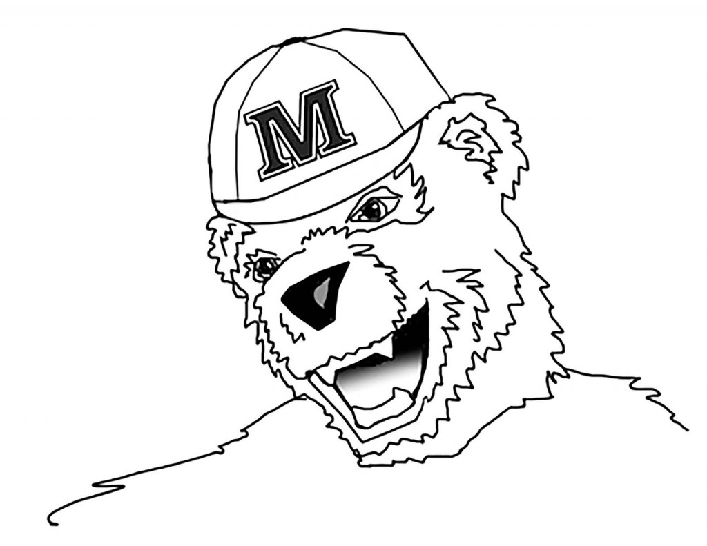 Coloring pages bananas t bear university of maine for Bear head coloring page