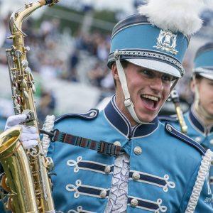 marching band member having fun