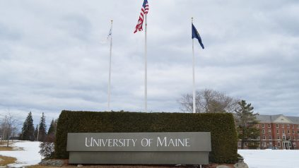 university of Maine front sign.