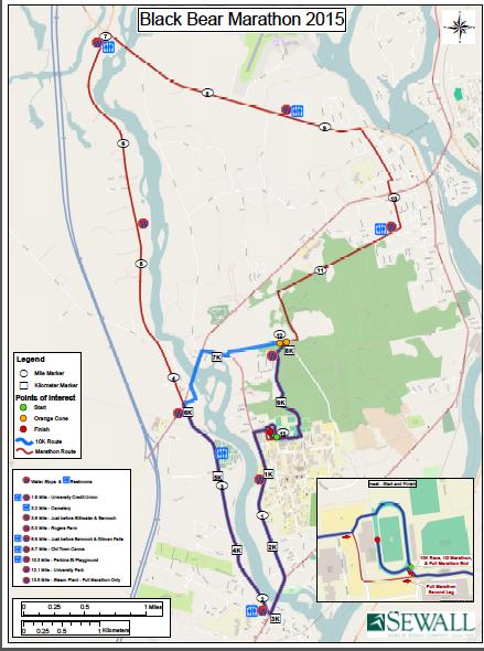 Map of marathon course