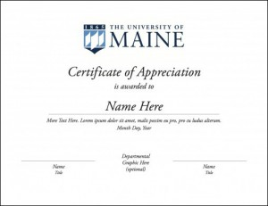 certificate version 1 example for UMaine