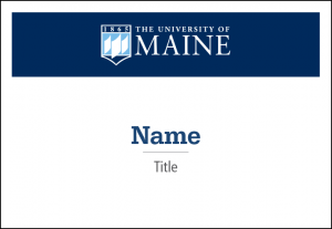 name tag example for UMaine