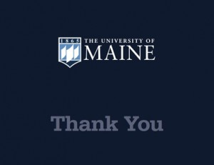 blue thank you card example for UMaine