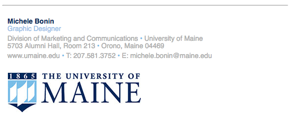 Email Signature Example | Email Signature Branding Toolbox University Of Maine