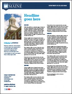 flyer example 2 for UMaine