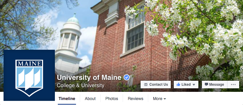 facebook profile and cover photo image for Umaine
