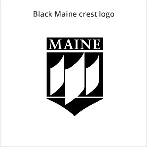 black Maine crest logo