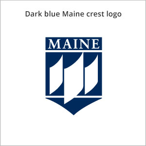 dark blue Maine crest logo