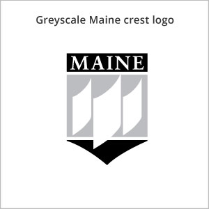 grey Maine crest logo