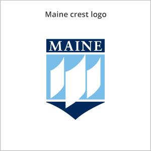 Maine crest logo