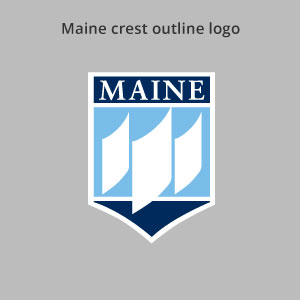 outline Maine crest logo